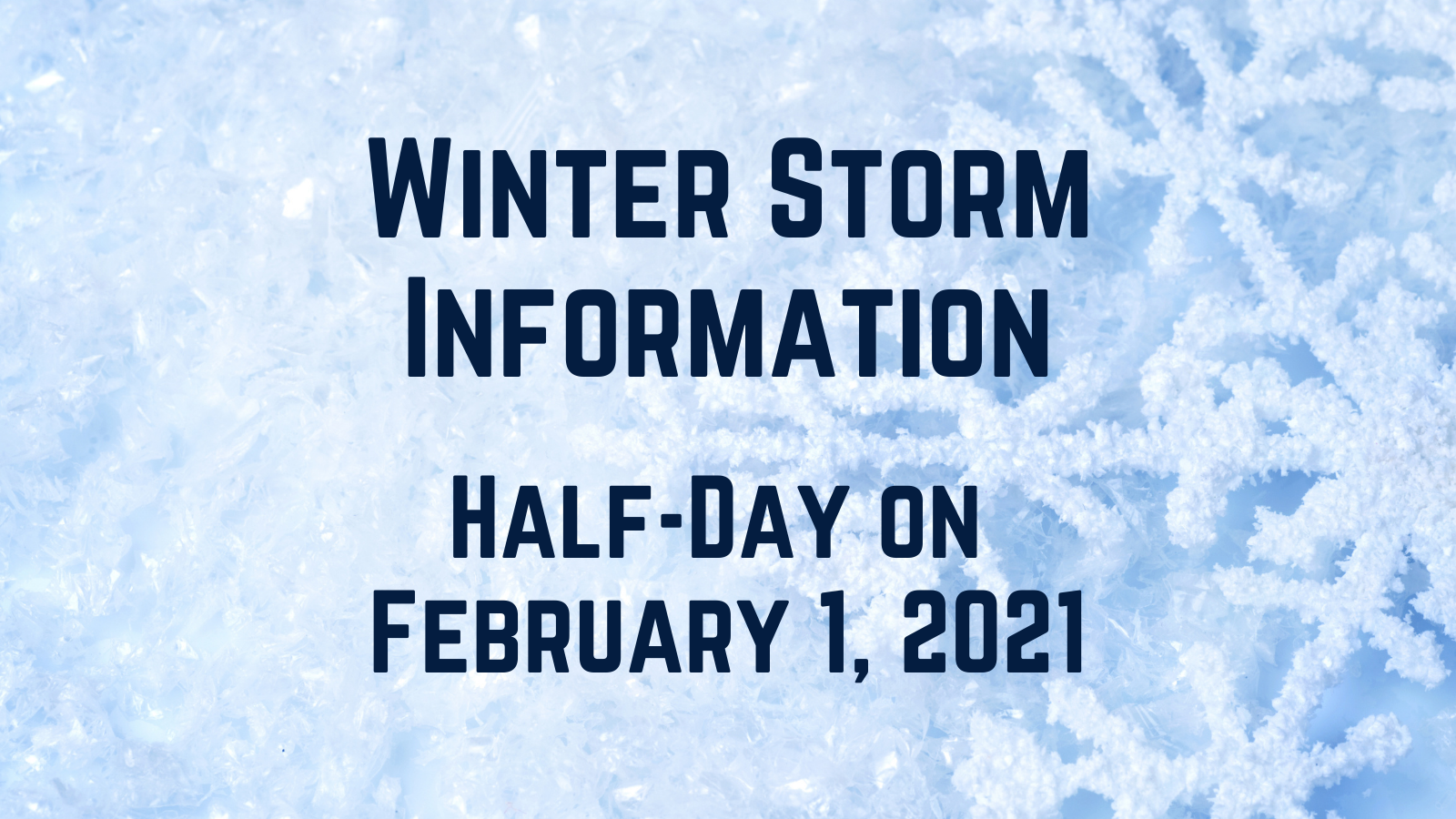 Franklin Public Schools: Half-day for Monday, Feb 1 - Stay tuned for Tuesday decision (weather dependent)