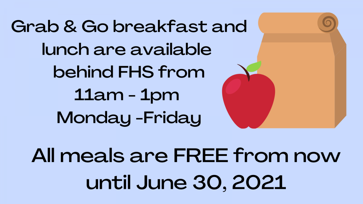 Food Services Free Meals until 6/30/21
