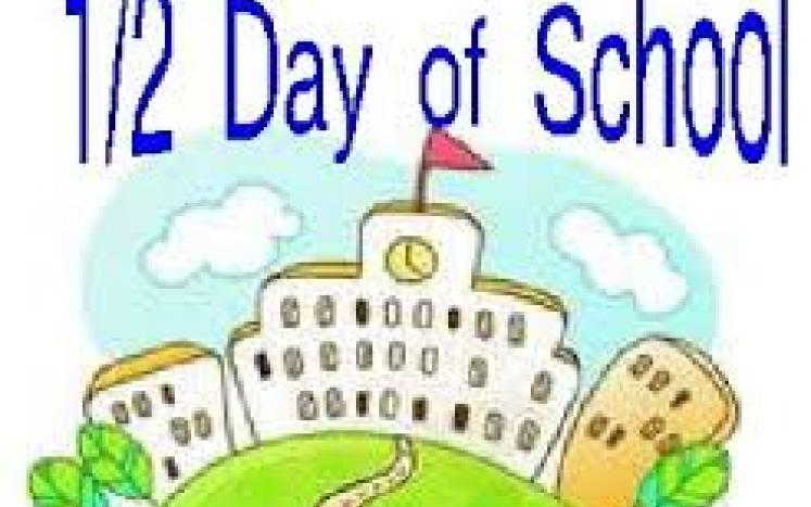 Half Day of school for students PD DAY Wed March 31st 2021