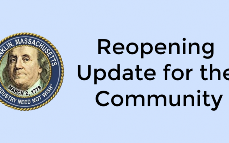Reopening Update for the Community