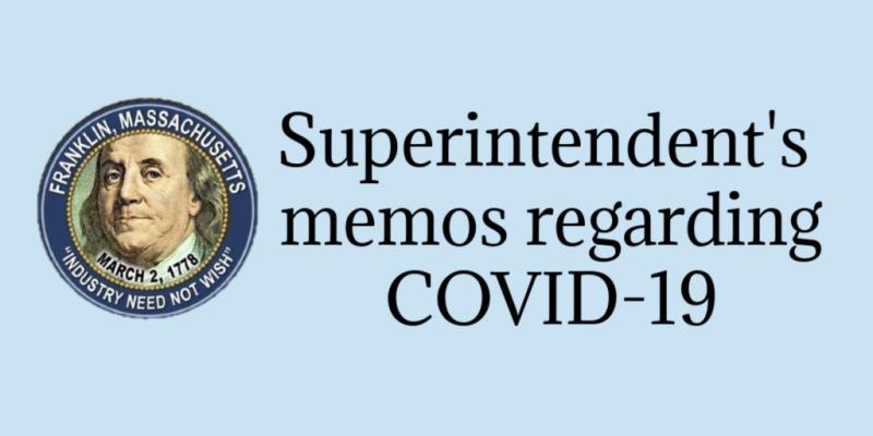 Superintendent's Memos Covid-19